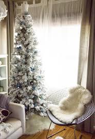 SwingNCocoa Super Skinny Flocked Christmas Tree