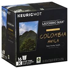 Laughing Man Coffee Dark Roast Colombia Huila K Cup Pods