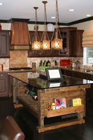 Astounding Design Of The Rustic Kitchen Ideas With Brown Wooden Table And Black Marble Countertops Addde