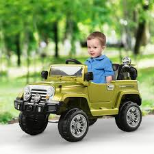 100 Kids Electric Truck Aosom 12V Ride On Toy Jeep Car 2 Speed Lights
