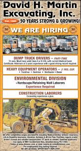 Various Job Openings, David H. Martin Excavating, Inc, Chambersburg, PA Dump Truck Insurance Rates Ontario Best Image Kusaboshicom 81914mack Tri Axle Dump Truck On Sunset St My Pictures Tri Axle Trucks For Sale About Us Shaw Trucking Inc Used 2007 Freightliner Fld120 Triaxle Alinum Dump Truck For Sale 1989 Fl112 557716 Lvo Vhd Series Owner Operator Workowner 1988 Mack Tri Model Rd690s 2989900 Pclick Dream City Collides With Train In Lower Nazareth Township Wfmz