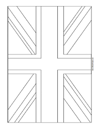 Free Printable United Kingdom Flag Coloring Page