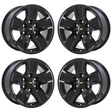 100 Rims Truck 17 CHEVROLET SILVERADO 1500 TRUCK BLACK WHEELS RIMS FACTORY OEM