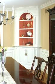 Built In Corner Cabinet Hutch Classic Dining Room With White Painted Dark