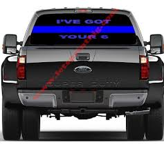 Ive Got Your 6 Thin Blue Line Rear Window Wrap Decal Sticker Full ... Mandala Car Decal Vinyl Sticker Decals Etsy D1075 Brick Life For Truck Suv Van Masonry Trowel My No Moving 5 Best Stickers Cars In 2018 Xl Race Parts Philippines Graphics Stickers Hood Decals Bessky 3d Peep Frog Funny Window Business Signs Vehicle Wraps Boat Marine Installers Amazoncom Stone Cold Country By The Grace Of God 8 X 6 Die Cut American Flag Bald Eagle Rear Graphic Jdm Tuner Window Decal Your Car Or Truck Youtube