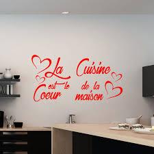 stickers citations cuisine sticker citation la cuisine est le coeur de la maison