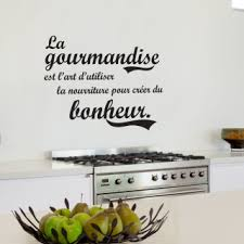 citation sur la cuisine stickers original citation sur gourmandise et bonheur pour cuisine