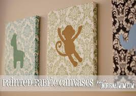 Diy Painted Fabric Canvas