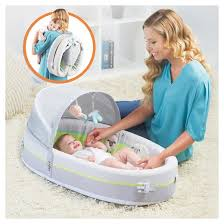 Lulyboo Baby Lounge To Go Premium Travel Bed Tar