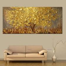 handgemalte messer gold baum ölgemälde auf leinwand große palette 3d gemälde für wohnzimmer moderne abstrakte wand kunst bilder do not select a 物流计划