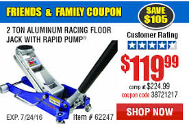 Harbor Freight 3 Ton Aluminum Floor Jack by 072216 Page