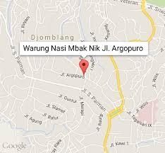 Lokasi Warung Nasi Mbak Nik Jl Argopuro Semarang
