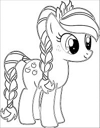 Elegant Pony Cartoon My Little Pony Coloring Page At Pony Coloring