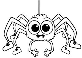 Download Free Printable Halloween Spider Coloring Pages Template For Kids