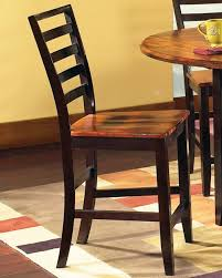Steve Silver Abaco Solid Wood 2 Tone Ladder Back Counter Stool