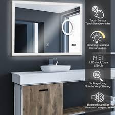aquamarin badspiegel led beleuchtung badezimmerspiegel