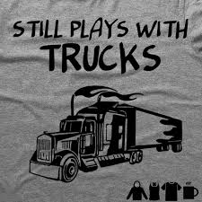 STILL PLAYS WITH TRUCKS FUNNY TSHIRT/MUG - Barbells And Handcuffs