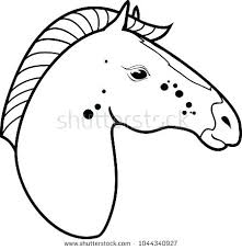 Head Coloring Page Horse Pages Realistic