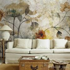 großhandel vintage 3d wandbilder tapete blume wandbild wohnzimmer tapete bunte ölgemälde elegante und ruhige aufkleber wandbild vvsong 14 59