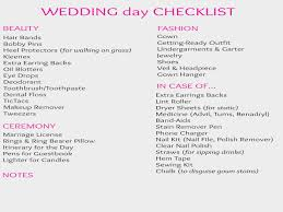 Your Ultimate Wedding Day Checklist