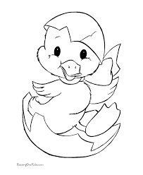 Baby Duck Coloring Page Funycoloring