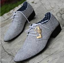 Wholesale Fashion For Men Dress Shoes Male Business Wedding Autumn Lace Up Cloth Cover S Pointed Leather N25