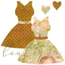 Vintage Dresses Mannequin Clipart Illustrations Creative Market