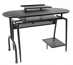 Glass And Metal Computer Desk With Drawers by Unique Modern Desks For Small Spaces Having Free Form Glass Top
