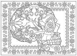 Creative Haven Day Of The Dead Coloring Book Dover Publications Colouring PagesAdult