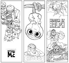 Bookmark Template Pages Beauty And The Beast Coloring Page Throughout Bookmarks