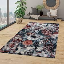 wohnzimmer teppich blumen muster boho style