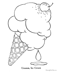 Popular Ice Cream Coloring Pages For KIDS Book Ideas