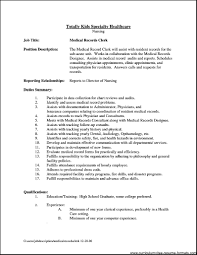 Clerical Job Description Office Clerk For Resume Simple Accordingly General Sample