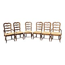 Vintage French Country Style Oak Ladder Back Dining Chairs - Set Of ... Antique Set Of 12 French Louis Xv Style Oak Ladder Back Kitchen Six 1940s Ding Chairs Room Chair Metal Oak Ladder Back Chairs Avaceroclub Fniture Classics Solid Wood Wayfair 10 Rush Seat White Painted Country Shabby Chic Cottage In Theodore Alexander Essential Ta Farmstead A 8 Nc152 Bernhardt Woven