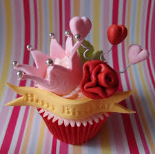 Princess cupcakes without the Birthday greeting