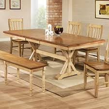 Trestle Dining Table With 18 In Butterfly Leaf