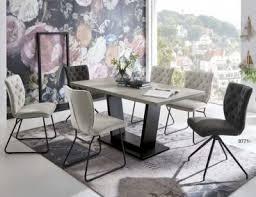 niehoff esstisch malta 6633 mit auszug dekor betonoptik trapezgestell