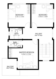 Second Floor House Design by Two Story House Plans Series Php 2014005