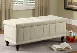 Furniture Superb Fabric Ottoman Storage Bench Design For Modern