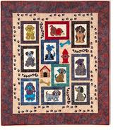 Mixed Mutts Wall Hanging Quilt Project on CD by Lunch Box Quilts