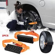 100 Snow Chains For Trucks 2pcs Anti Skid Belt Saloon Car Tire Universal