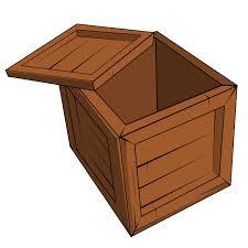 Free Open Wooden Crate Clip Art
