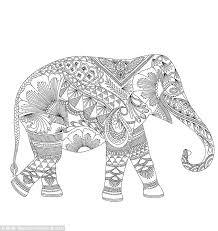 Pin Asian Elephant Clipart Coloring Sheet 13
