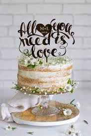 All You Need Is Love Cake Topper Wedding Rustic Custom Personalized Wood