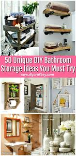 50 Unique DIY Bathroom Storage Ideas You Must Try - DIY & Crafts 30 Diy Storage Ideas To Organize Your Bathroom Cute Projects 42 Best And Organizing For 2019 Ask Wet Forget 3 Inntive For Small Diy Shelves Under Mirror Shelf 18 Smart Tricks Worth Considering 44 Tips Bathrooms Space Network Blog Made Jackiehouchin Home Options 19 Extraordinary Your 47 Charming Spaces Decorracks Wonderful Units Toilet Above Dunelm Here Are Some Of The Easiest You Can Have