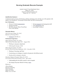 Entry Level Rn Resume Examples Cute Graduate Nursing Sample About 4 Nurse No Experience