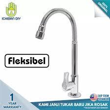 Diy Kitchen Faucet Pillar Sink Tap L202 Brass Kitchen Faucet Kepala Paip Pili Air Fleksibel Tembaga Ichiban Diy