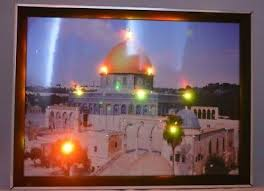 muslim wanddeko haus deko led bilder mekka jerusalem kaaba