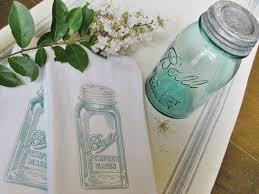 Easy Mason Jar Tea Towels Crafts Jars