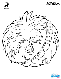 DS Chewbacca Angry Birds Coloring Page